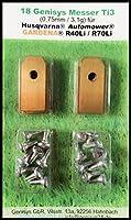 !Titan! 18 Genisys® Messer (Ti3=0,75mm) und Schrauben für Husqvarna...