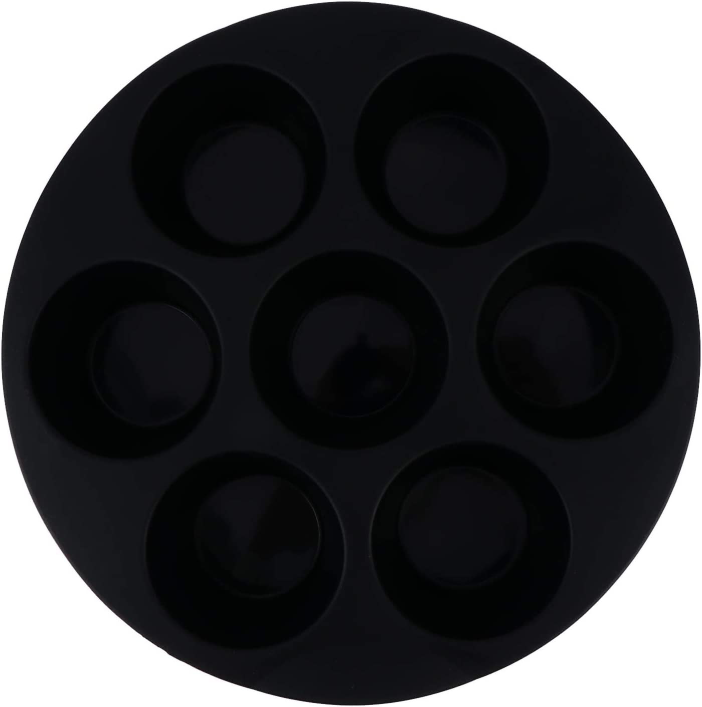 Cabilock Silicone Muffin Cake Cups Silicone Muffin Pan 7 Cup Non- Stick Cupcake Tin Tray Baking Mold for Air Fryer Chocolate Kitchen Tools 8 inch