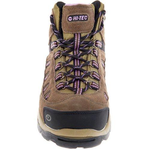 Hi-Tec Women's Bandera Mid-Rise Waterproof Hiking Boot Dk Taupe/Viola/Charcoal