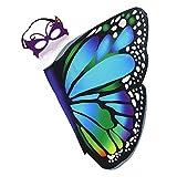 iROLEWIN Kids Dreamy Butterfly Wings Costume for Girls Fancy Dress up Pretend Play Party Favor