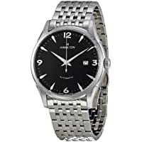 Hamilton Men's H38715131 Classic Thinomatic Automatic Watch (Black Dial, Silver Band)