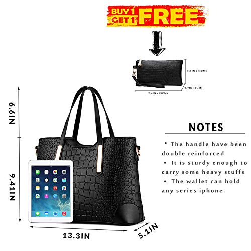 Handbags for and Satchel Black Wallets Purses c YNIQUE Women Bags Shoulder Tote nxZ1Sqqw7