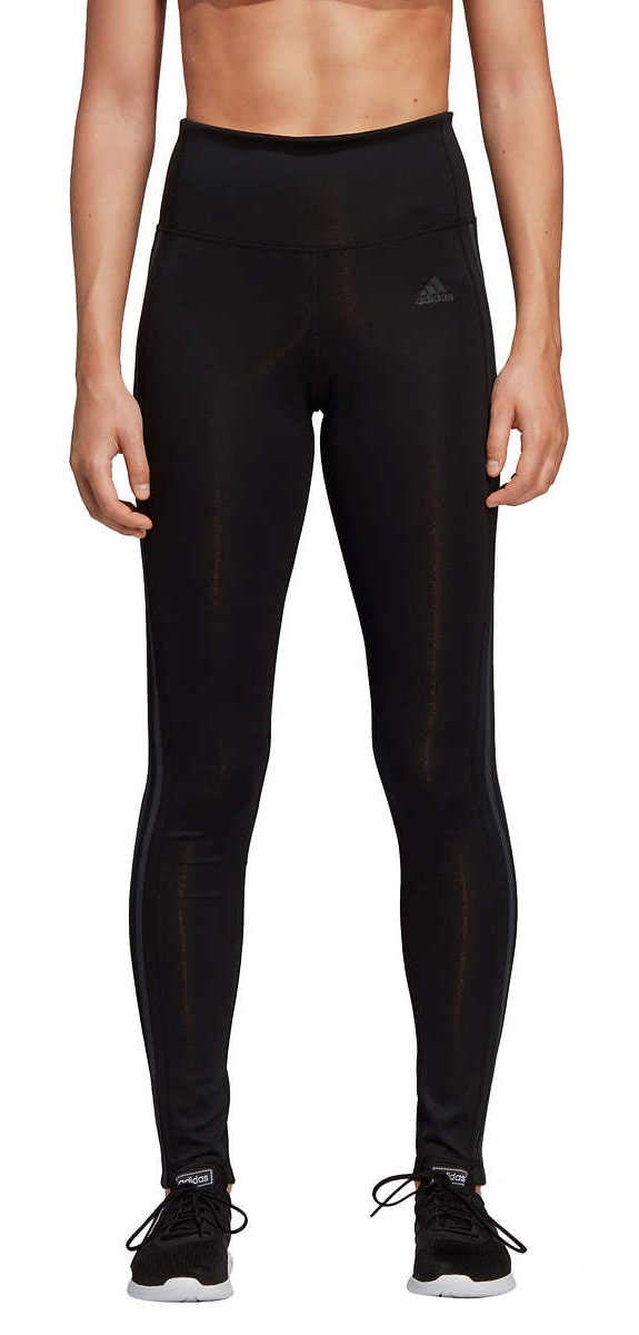 adidas Womens 3 Stripe Active Tights Black/Carbon Small