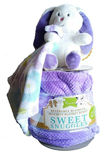 Baby Plush Bunny With Reversible Security Blanket Gift Set