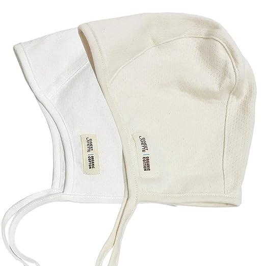 5102c7f86bf Sweet Layette Baby Bonnet Cap - Baby Pilot Hat - 100 % Organic Cotton (2