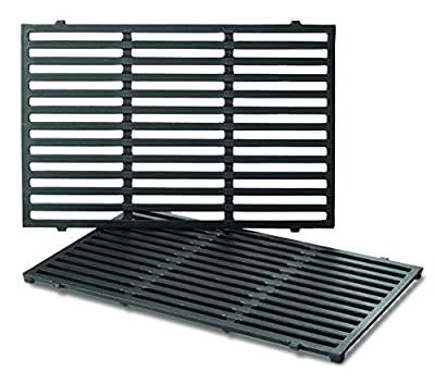 Weber Series Gas Grills (17.5 x 11.9 x 0.5) 7638 Porcelain-Enameled Cast Iron Cooking Grates for Spirit 300