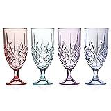 Godinger Silver Art Dublin Blush Set of 4 Ice Beverage Glasses