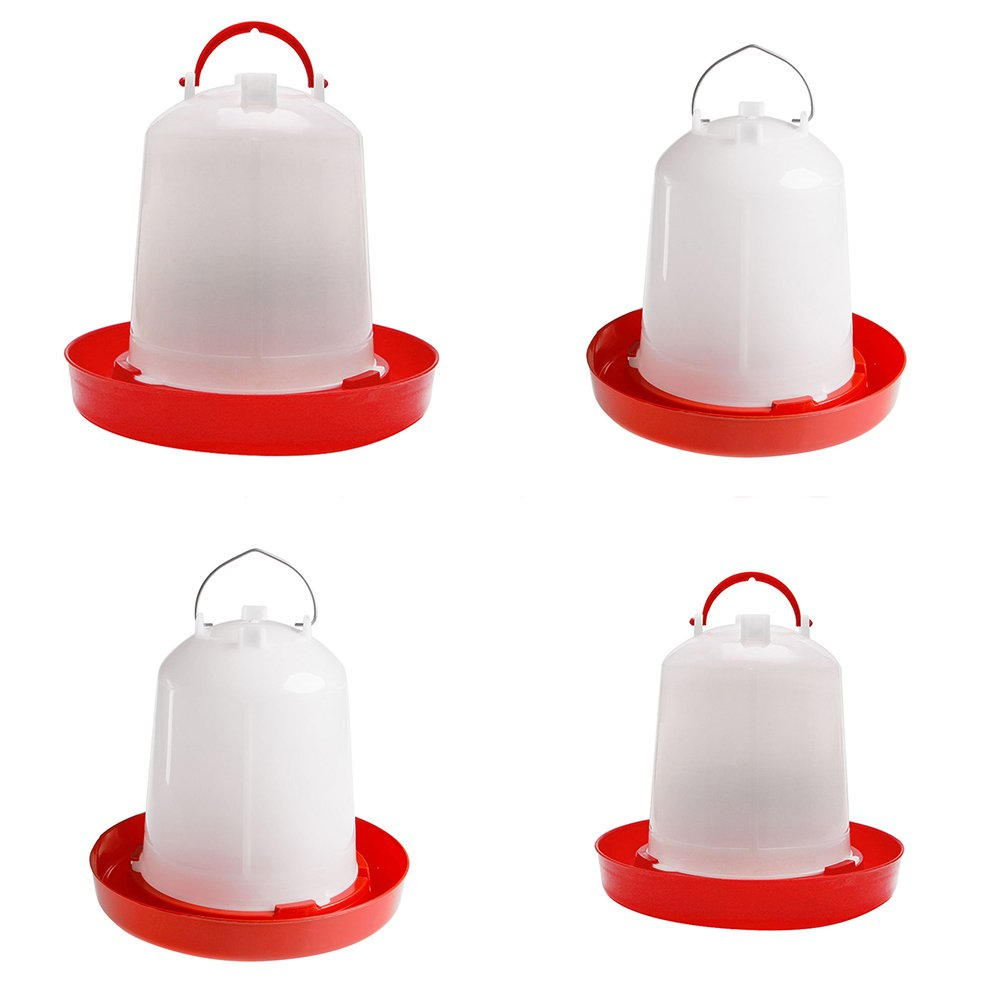 Yeshi 1Pcs Chicken Feeder Drinker Poultry Chick Hen Quail Bantam Food Water Kettle size 1.5l