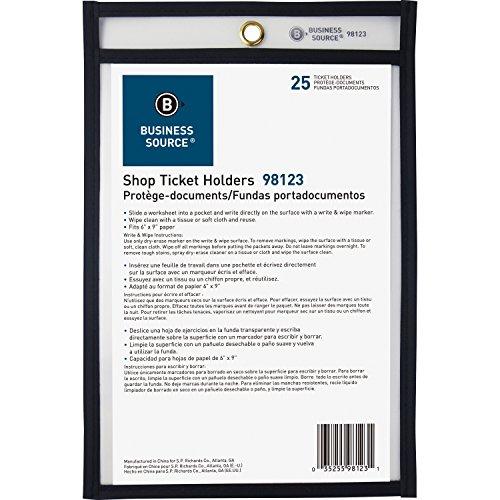 Business Source Clear Heavyweight Shop Ticket Holder, 6