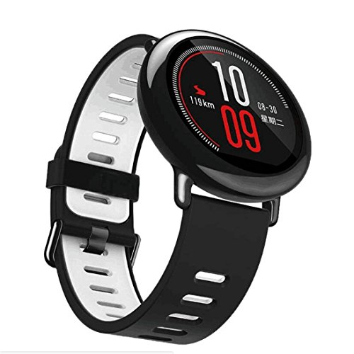 Price comparison product image Watch Strap, Hot Sale !  Ninasill  22mm Replacement Silicone Sports Strap Band For Xiaomi HUAMI AMAZFIT Smart Watch Bracelet Wristband (Gray)