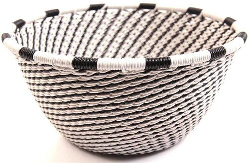 Fair Trade Zulu African Wire Small Bowl, Approximately 4.5