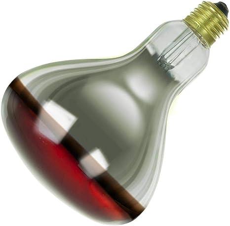 Sunlite 250W R40 Heat Lamp Bulb Red Medium Base