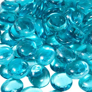 Aqua Blue Gem - Glass Gems for Vase Accents and Crafting (2 Bags, Aquamarine Gems) by Greenbrier Intl