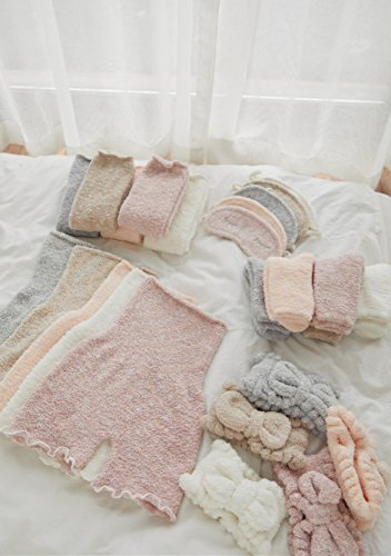 Generic winter new _Products_5_piece_ gift _packaging_s_coral_fleece_ warm _palace_ pants _-eye_shield_ women headband hairband - Shield Fleece Pant