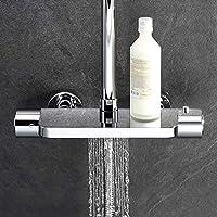 ubeegol Termostato Estantería – Sistema de ducha con set Lluvia ...