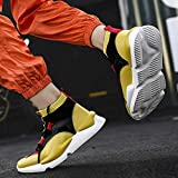 Sameno Street All White の Sock Sneakers for Men