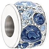 Authentic Chamilia Charm ''Mosaic'' Blue Swarovski 2025-0928