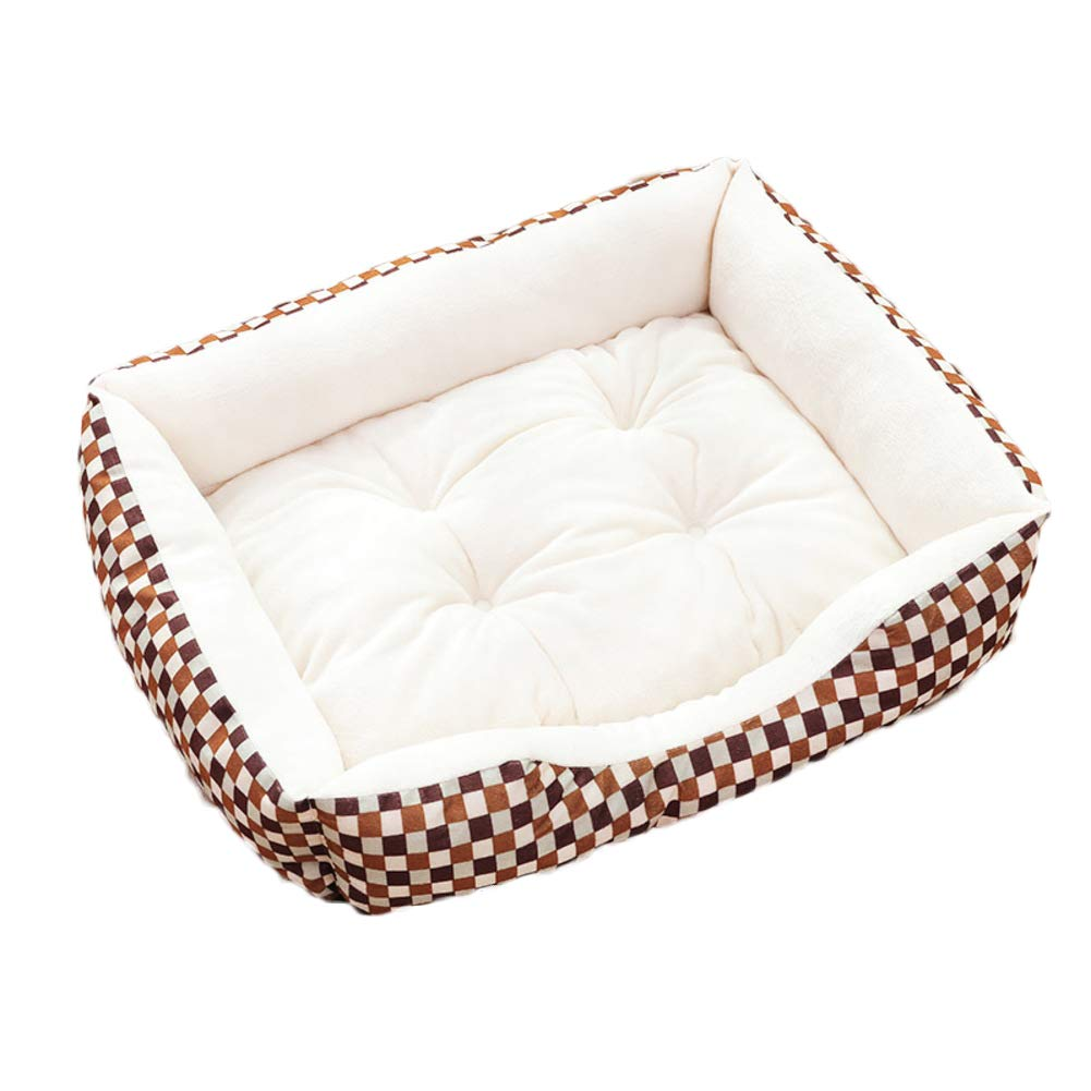 D M D M Pet Bed,Ultra Soft & Cozy Washable cat Dog mat eases pet Arthritis & Hip dysplasia Pain Puppy Kitten Warm Kennel Cushion-D M