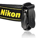 CamDesign Universal Lens Cap Anti-losing Holder Clip Buckle (Black) + CamDesign Wristband Lens Focus Ring (Aqua)