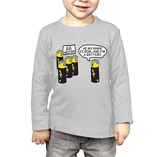 df76d25c12 ZheuO Boys & Girls Infant AA Battery Meeting Graphic Gift Funny Soft and  Cozy 100%