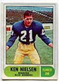 OPC 1968 Ken Nielsen Rookie Card #65 Winnipeg Blue Bombers University of Alberta