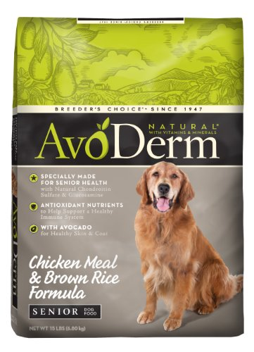 AvoDerm Natural Chicken Meal and Brown Rice Formula Senior D