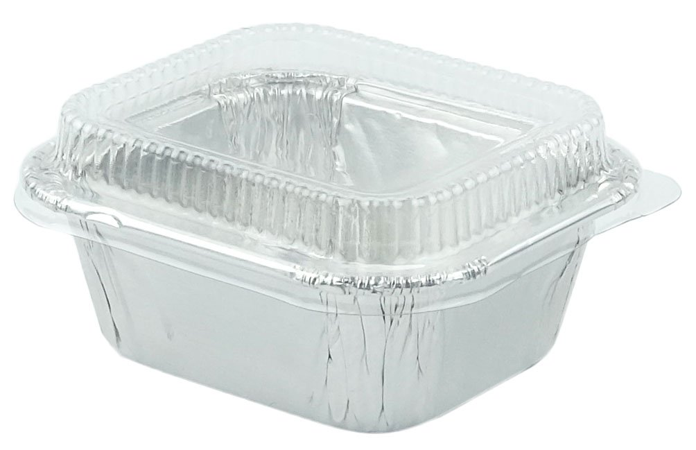 Durable Foil Mini Loaf Bread Pans 2-3/4'' With Lids For Pastries, 20 Sets.