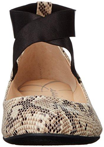 Jessica Simpson Donna Mandays Balletto Piatto Nero / Bianco