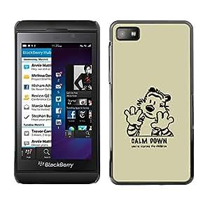 // PHONE CASE GIFT // Duro Estuche protector PC Cáscara Plástico Carcasa Funda Hard Protective Case for Blackberry Z10 / Cálmate /
