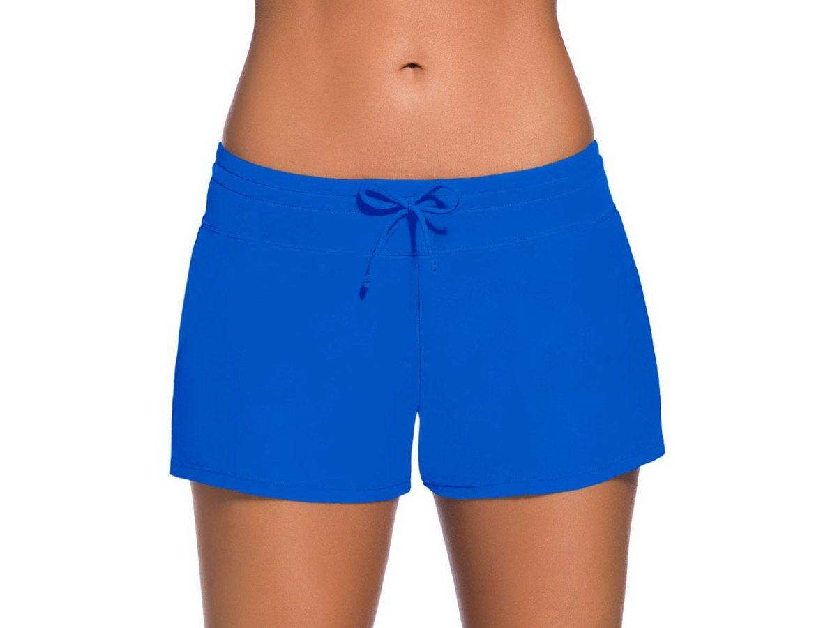 Sythyee Women's Swim Boardshorts Tankini Boyshorts Beach Bottom Swimsuit Built in Briefs Royal Blue Size XL
