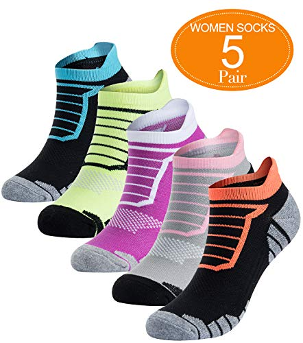 Athletic No Show Running Socks Women Cushion Low Cut Sports Performance Sock