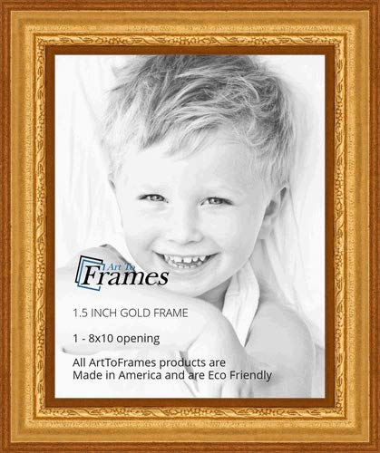 ArtToFrames 8x10 inch Gold Speckeled Wood Picture Frame, WOMTI-795-8x10 ()