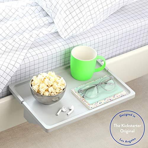 BedShelfie The Original Bedside Shelf - 9 Colors / 3 Sizes - AS SEEN ON Business Insider (Minimalist Style, Light Grey)