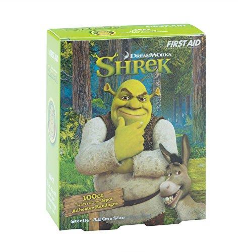 Shrek Spot Bandages - First Aid Kit Supplies - 100 Per Pack