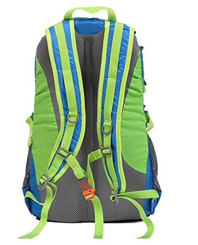 YYY-Ocio al aire libre bandolera hombres y mujeres montañismo bolso 30L bolsa deportes mochila de senderismo , green Black