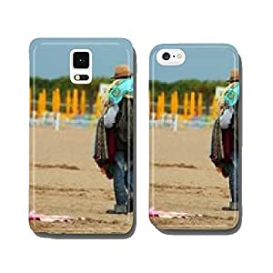 abusive Peddler with fabrics and dresses walking on the beach gl cell phone cover case iPhone6 Plus
