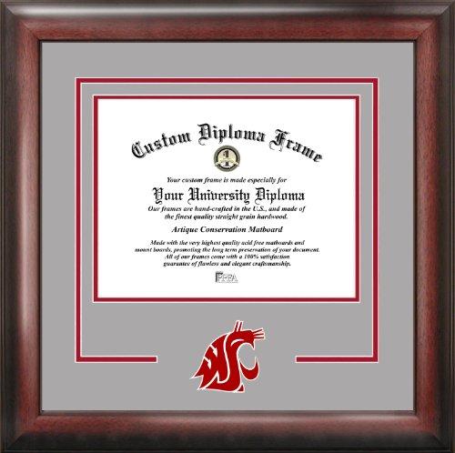 (Campus Images NCAA Washington State Cougars Spirit Diploma Frame, 11 x 14, Mahogany)