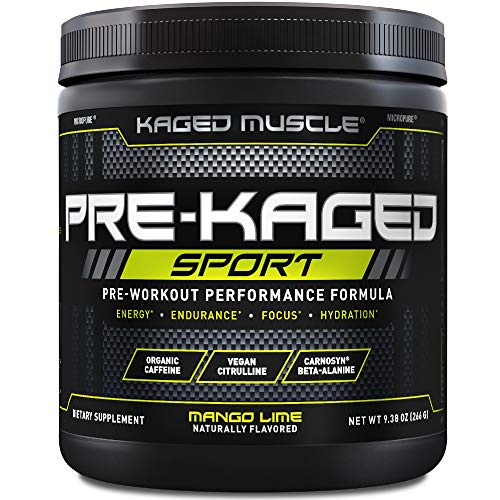 Pre Workout Powder; Kaged Muscle Pre-Kaged Sport Pre Workout For Men And Women, Increase Energy, Focus, Hydration, and…