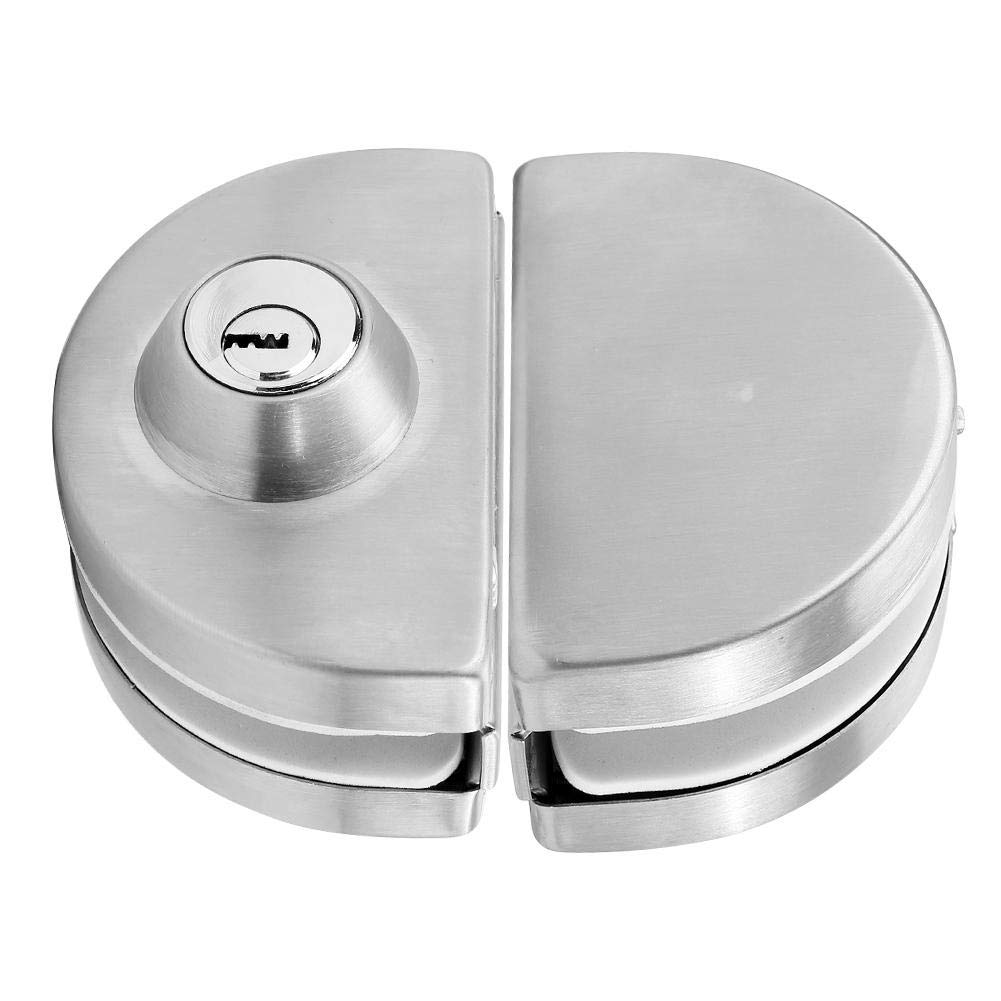 Ciglow Glass Door Lock, 3.9-4.7in Door Single Cylinder Security Lock with Rotating Knob Stainless Steel Sanding for Home Hotel Bathroom. by Ciglow