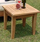 New Grade A Teak Wood Atnas 26″ Square Side Table / End Stool #WHAXSTAT Review