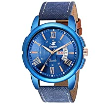 Espoir Analogue Stylish Blue Dial Day and Date Men's Boy's W
