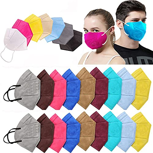 Ace N King N95/KN95 Anti Pollution Dust Face Mask for Kids,Adults,Men & Women Outdoor Protection with 5 Layer Filtration Made in India – Pack of 100 (Mix Colors)