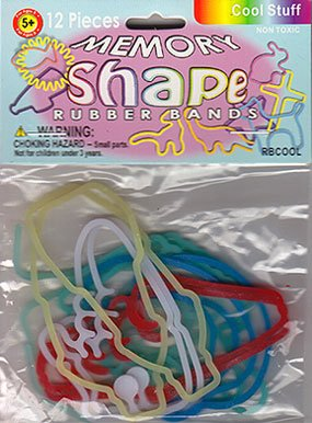 Silly Bands Memory Shape Rubber Bands- Cool Stuff