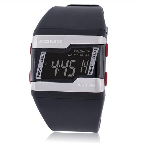 Niños Deportes Relojes Digitales, Impermeable Reloj de Pulsera con Alarma Horas El luz Niños Aire Libre Reloj Deportivo para Adolescentes-B: Amazon.es: ...