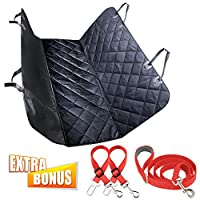 K9KONNECTION Pet Seat Cover for Cars - Dog Seat Cover for Backseat, Waterproof & Scratch Proof & Nonslip Backing & Hammock, Ultimate Car Accessories for Pets, Bonus Gift Dog Seat Belt & Leash Set