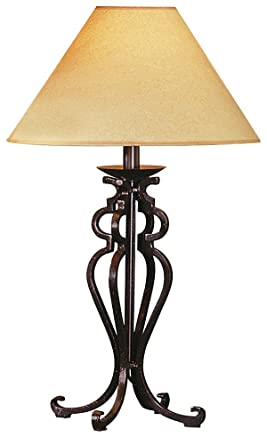Open Scroll Rustic Wrought Iron Table Lamp Amazon Com
