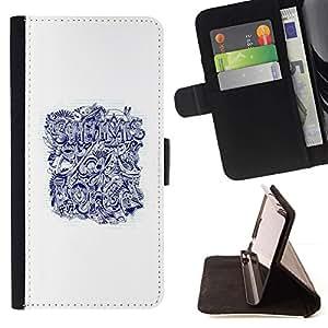 Momo Phone Case / Flip Funda de Cuero Case Cover - Bored Quote Art Tattoo - Sony Xperia M5