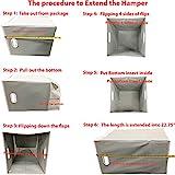 Simple Houseware Foldable Laundry Hamper Basket
