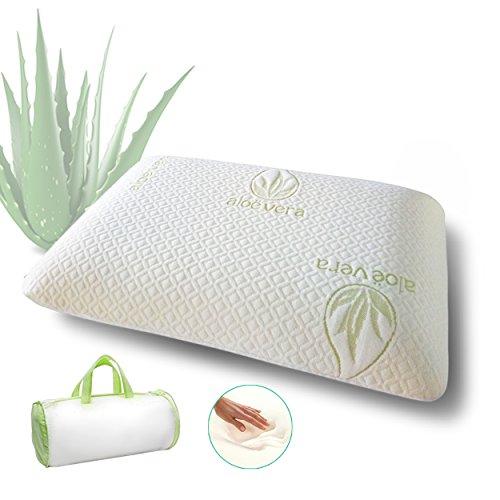 Memory foam pillow | Cover with Aloe Vera | Hypoallergenic Soft
