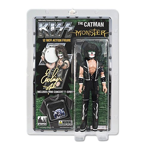 KISS 12 Inch Action Figure Doll Series 4 Monster - Eric Singer Peter Criss Catman